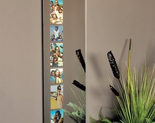 Cleo Wall Mirror with Photo Openings