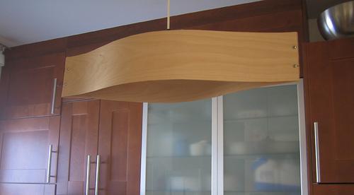 Modern Wood Veneer Pendant Lamp