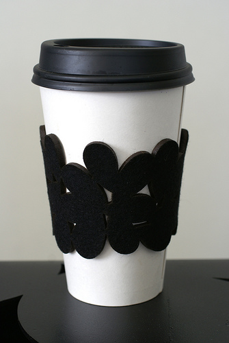 Coffee Cozy Cuff by Megan Auman