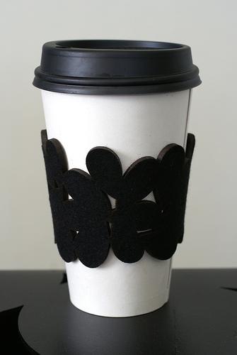 Coffee Cozy Cuff by Megan Auman