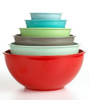 Martha Stewart Collection 6-Piece Multi-Color Melamine Bowl Set