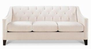 Chloe Velvet Metro Living Sofa