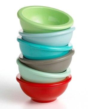 Martha Stewart Collection Multi-Color Prep Bowls, Set of 6