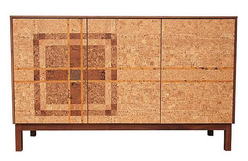 Cork Plaid Mosaic Sideboard