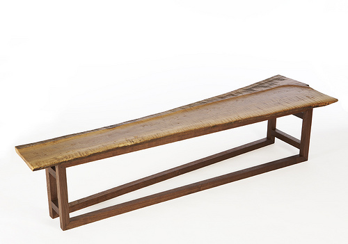 Michael Moran - Curly Oak bench