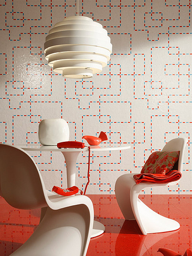 Wallpaper in trend - Mosaic tile inspiration