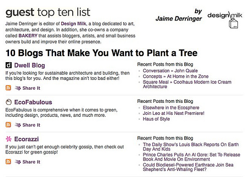 10 Blogs that Make You Want to Plant A Tree in news events  Category