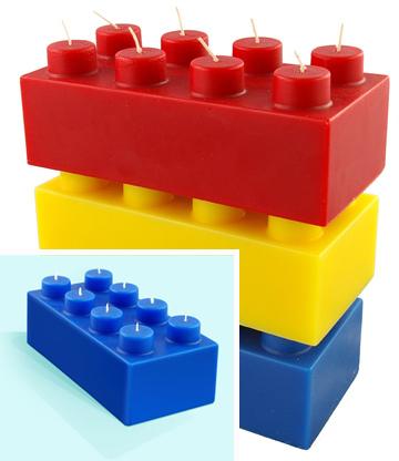 Lego-like Candles