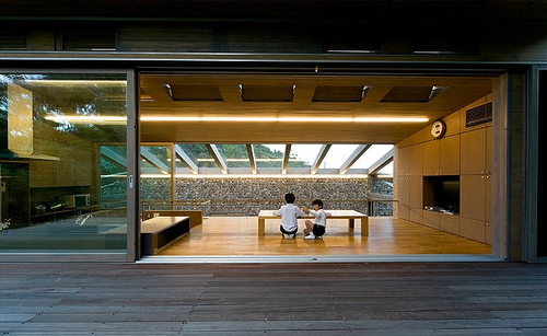 Base Valley House in Japan by Hiroshi Sambuichi