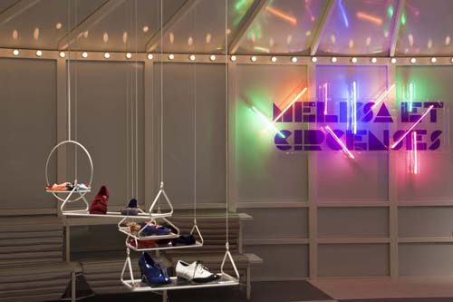 The Shoes Shine in the Melissa Lounge in style fashion interior design  Category