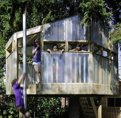 Jorin & Matana's Treehouse in Canada by Nicko Elliott
