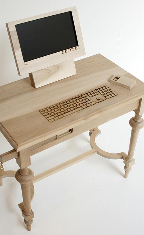 Wooden Computer Workstation