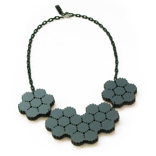 Mesh Reversible Necklace by Kyoko Hashimoto