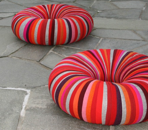Drops Pouf by Camilla Hounsell Halvorsen