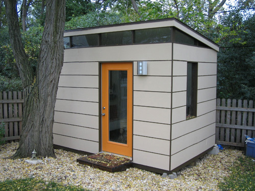 David van alphen 39 s modern shed design milk for Cheap garden office buildings