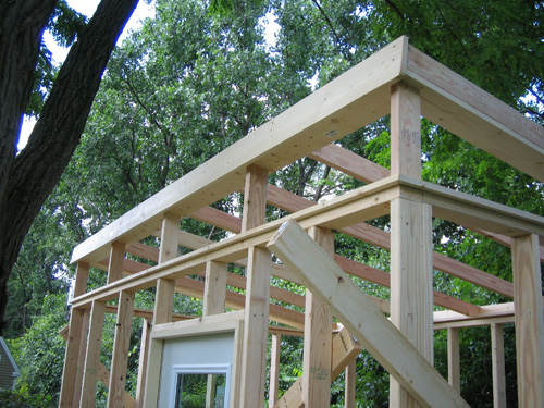framing of modern shed