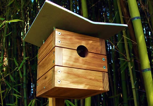 modern birdhouses - design milk