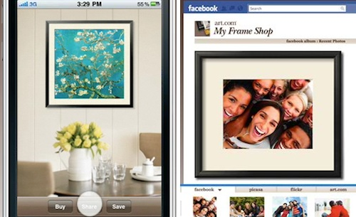 New iPhone and Facebook Apps by Art.com