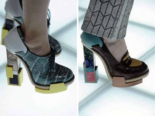 Architectural Shoes by Balenciaga in style fashion  Category
