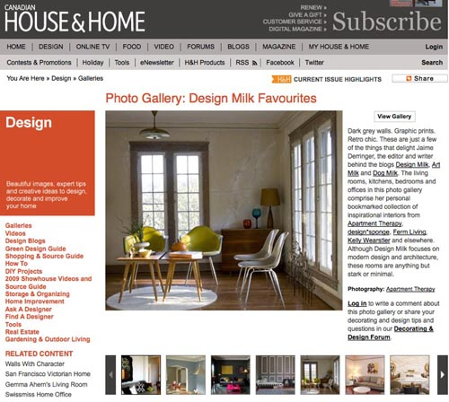 Design Milk Favorite Rooms on Canadian House & Home