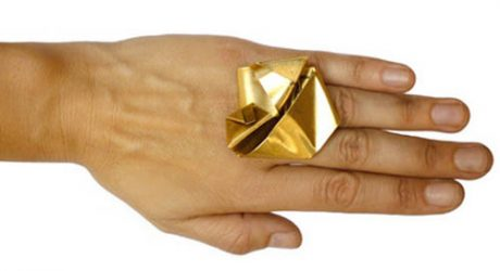 Folded Ring by Emily Miranda