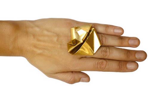 Folded Ring by Emily Miranda