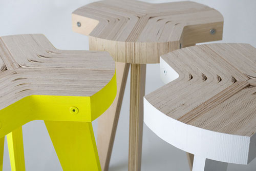 Offset Stool by Giorgio Biscaro in home furnishings  Category