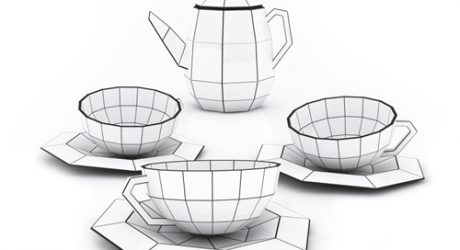 Spider Web Tea Set
