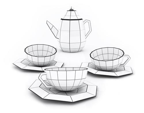 Spider Web Tea Set