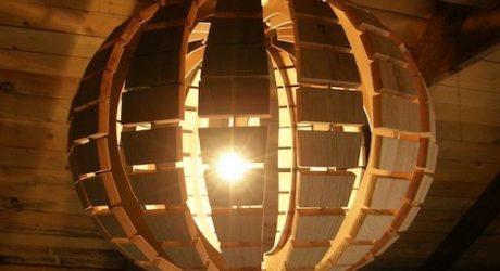 Wooden Chandelier by Dizajn Nudrvetu