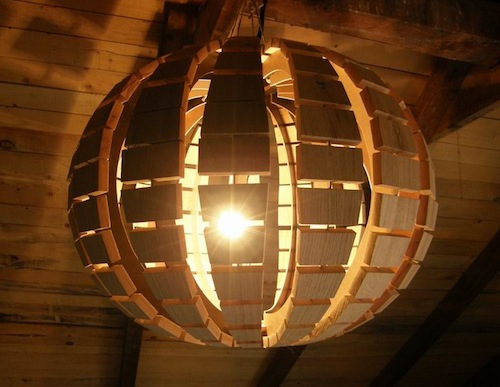 Wooden Chandelier by Dizajn Nudrvetu
