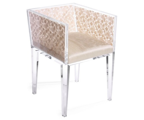 Lucite and Lace Chair by Floral Art in home furnishings  Category