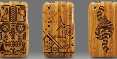 Engraved Bamboo iPhone Cases by Grove