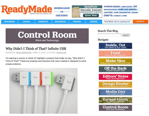 Visit ReadyMade's Control Room