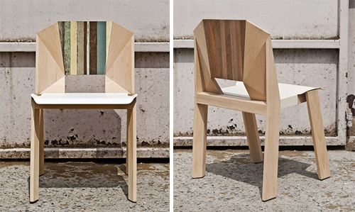 Scrap Facet Chair by Thinkk in main home furnishings  Category