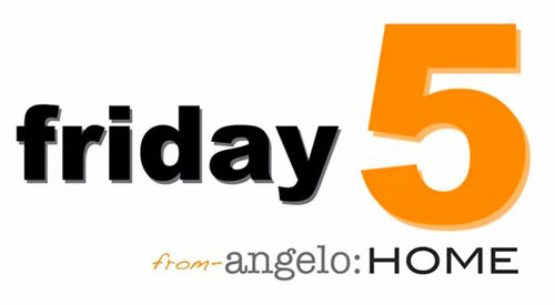 Friday Five with Angelo Surmelis