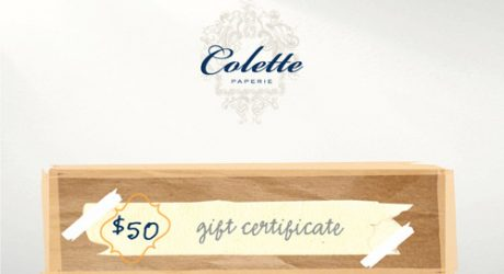 Colette Paperie Giveaway Reminder
