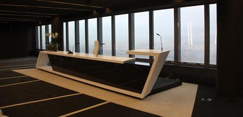 Deconstructivism Furniture Interior Design ~ Crystal tower interior design in spain by a cero milk