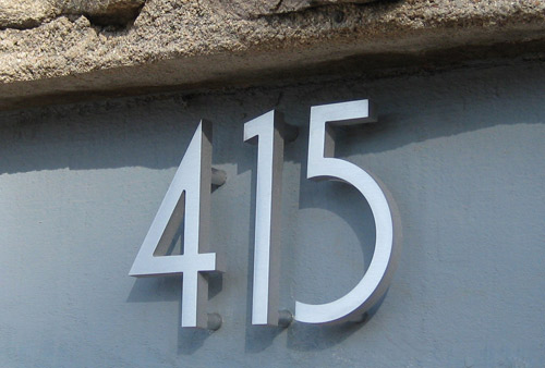 Modern House Numbers Giveaway Reminder