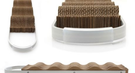 Wave: Modern Cardboard Cat Scratcher