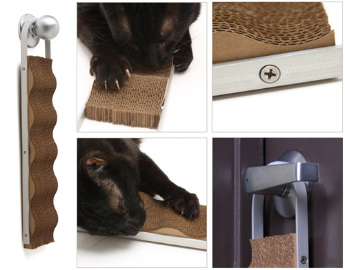 Wave: Modern Cardboard Cat Scratcher in home furnishings  Category