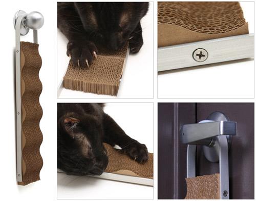 Wave: Modern Cardboard Cat Scratcher in main home furnishings  Category