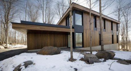 Mont-Saint-Hilaire Residence in Canada by Blouin Tardif Architecture