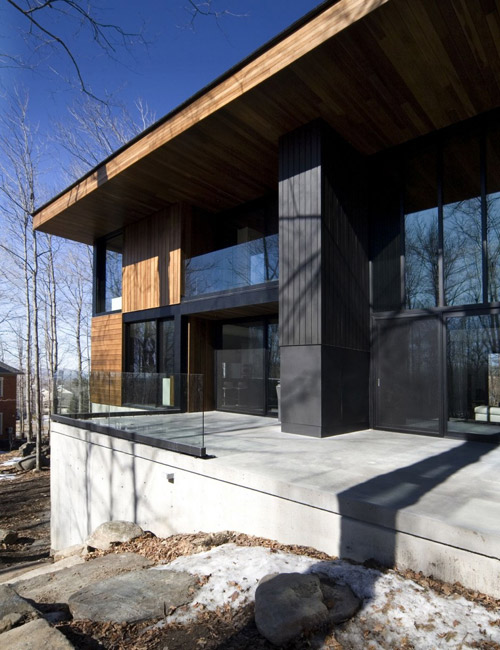 Mont Saint Hilaire Residence in Canada by Blouin Tardif Architecture in main architecture  Category