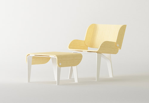 Stud Chair and Table by Cho Hyung Suk