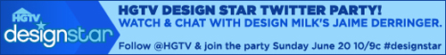 Design Star Season 5 Guest Judge and Twitter Party