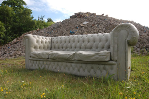 Concrete Chesterfield Sofa by Gray Concrete