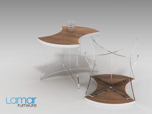 Flow Modular Coffee Table Design Milk