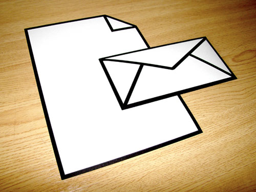 Icon Letter and Envelope in technology style fashion main  Category