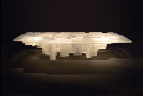 Resin Fossil Table by Nucleo